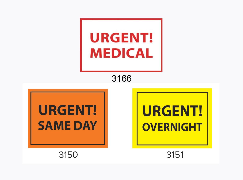 Urgent delivery labels
