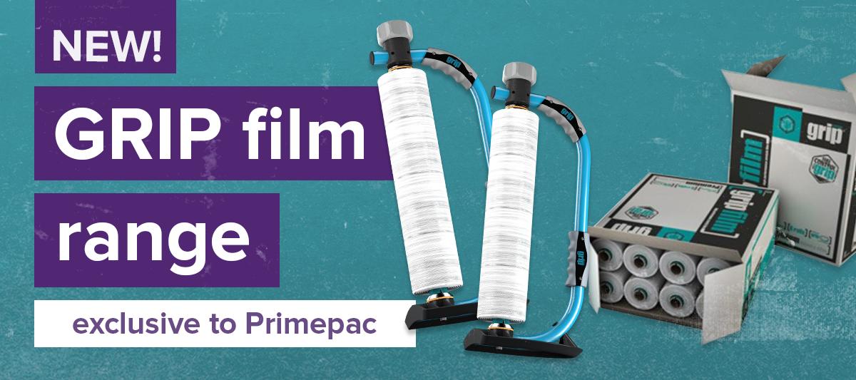 New! GRIP film range exclusive to Primepac