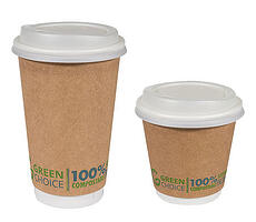 Green choice cups from Primepac