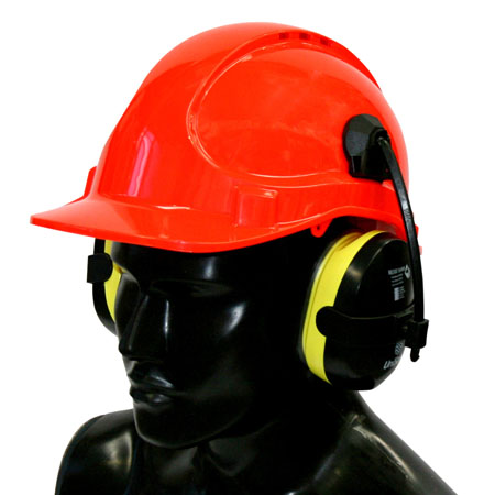 Hard hat and ear muffs