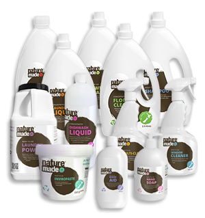Natural cleaning supplies by Naturemade