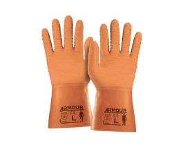 Rough Grip Orange Gloves