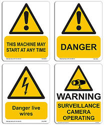 Primepac warning signs for building and construction