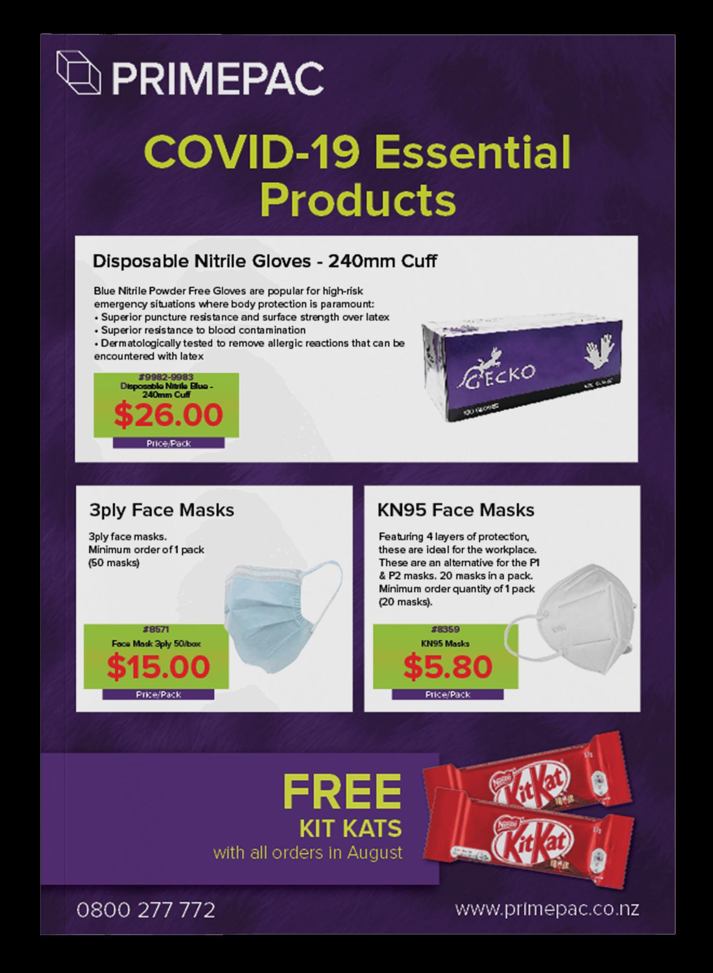 COVID Essentials Closed Catalogue