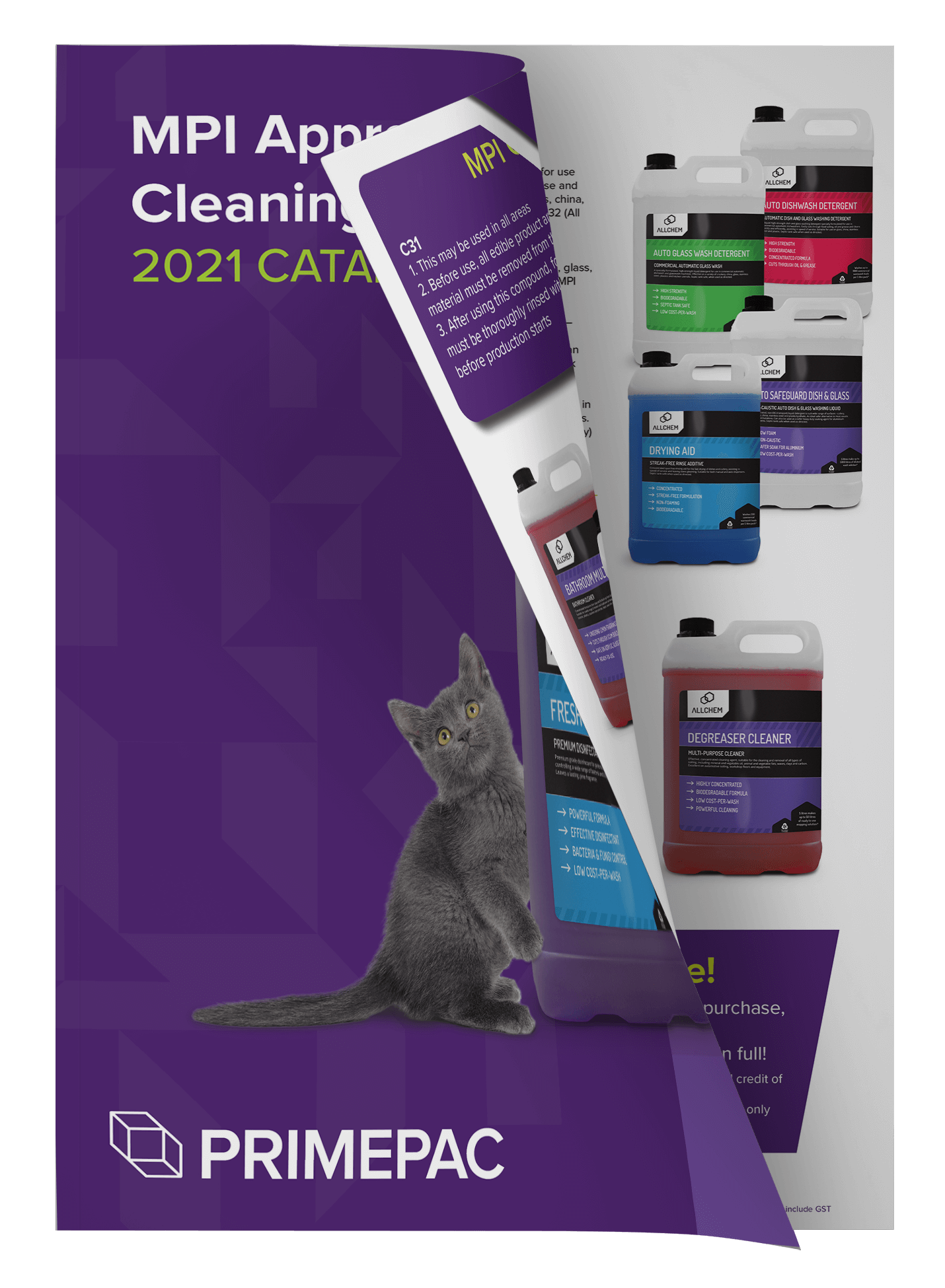MPI approved cleaning products open catalogue