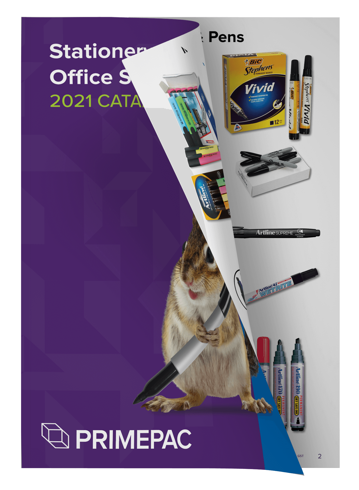 Stationery and office supplies open catalogue