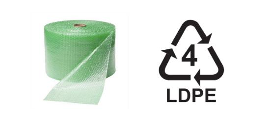 Eco bubble wrap recycling code